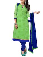 green georgette unstitched suit -  online shopping for Unstitched Suits