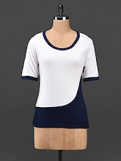 Viscose Color Block Round Neck Top - Butterfly Wears