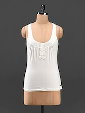 Round Neck Casual Knitted Tank Top - Butterfly Wears
