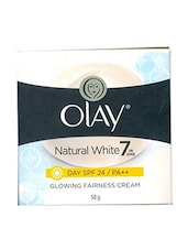 Olay Natural White 7 In One Glowing Fairness Cream Day SPF 24 (50g) - By