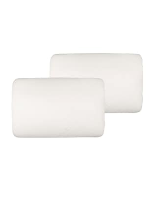 White Reveries Memory Foam Thin Pillow - Pack of 2