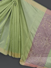 Green Embroidered Art Silk Saree - Prabha Creations