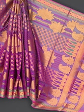 Multicolored Jacquard Art Silk Saree - Prabha Creations
