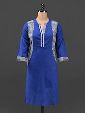 Round Neck Three Quarter Sleeves Kurti - KRISHTI