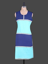 Round Neck Colour Block Cotton Kurta - Reet