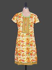 Short Sleeves Floral Print Kurta - Reet