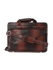 Brown Leather Laptop Bag - Borse