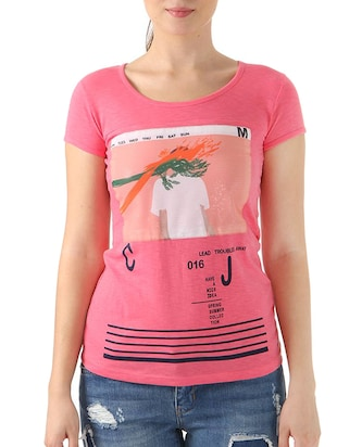 pink cotton top -  online shopping for Tops