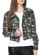 green cotton jacket -  online shopping for jackets