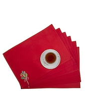 Maspar Solid Shanil Red Placemat Set Of 6 - By
