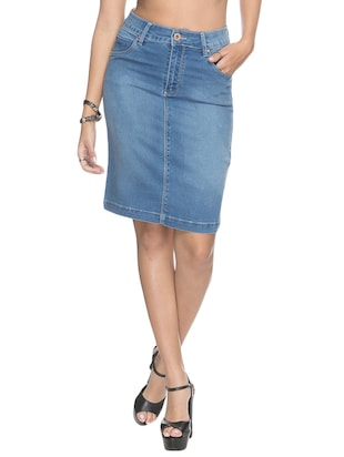 Denim Skirts - Buy Denim Skirts for Women Online in India ...