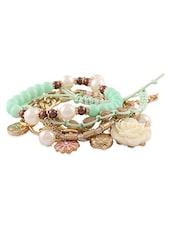 Elegant Blue Beads Multilayered Bracelet Set - Young & Forever