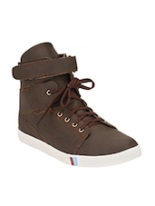 brown leather sneakers -  online shopping for Sneakers