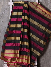 Multicolor Striped Zari Woven Kota Saree - Shiva Saree