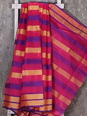 Zari Striped Woven Kota Saree - Shiva Saree
