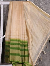 Green Border Golden Manipuri Net Saree - Shiva Saree