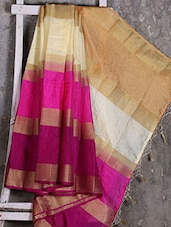 Multicolor Striped Manipuri Net Saree - Shiva Saree
