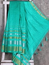 Striped Border Shimmery Manipuri Net Saree - Shiva Saree
