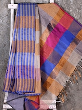Multicolor Woven Striped Saree - Shiva Saree