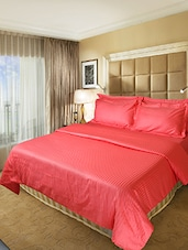 Cherry color cotton duvet cover -  online shopping for Quilt Covers