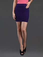 Purple Pencil Skirt Cum Tube Top - N-Gal