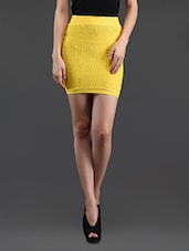 Yellow Pencil Skirt Cum Tube Top - N-Gal
