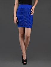 Blue Gathered Pencil Skirt Cum Tube Top - N-Gal