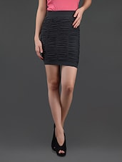 Grey Gathered Pencil Skirt Cum Tube Top - N-Gal