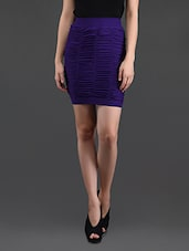 Purple Gathered Pencil Skirt Cum Tube Top - N-Gal