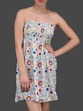 Bubbles Printed Chiffon Tube Dress - N-Gal
