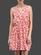 Floral Print Flared Short Dress - N-Gal