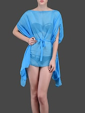 Blue Beach Polyester Cover-Up