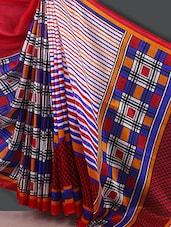 Striped With Checks Saree - Varanga