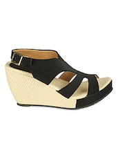 Metal Buckle Closure Strappy Wedges - ZACHHO