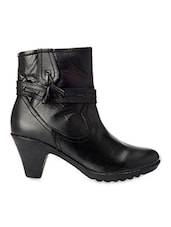 Black Ankle Boots With Block Heels - Bruno Manetti