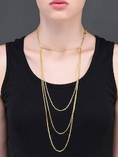 Gold Plated Line Shoulder Chain - YOUSHINE