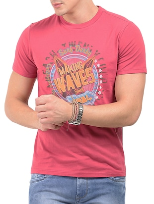 pink cotton tshirt
