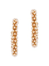 Pearl Embellished  Earrings - Adiva