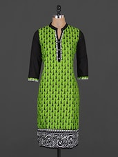 Ethnic Lady Printed Cotton Kurta - Vasudha