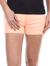 Plain Solid Cotton Lycra Shorts - Alibi