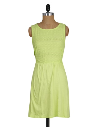 round neck sleeveless cotton viscose dress
