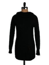 Black High-neck Knitted Dress - Amari West