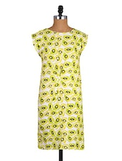 Kiwi Printed Round Neck Cotton Dress - Amari West