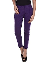 Elastic Waist Cotton Trousers - Amari West