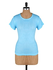 Round Neck Short Sleeves Cotton Top - Amari West