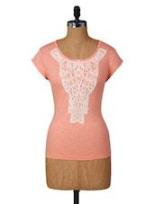 Peach Lace Detailed Top - Amari West