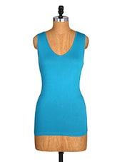 Sleeveless Blue Top - Amari West