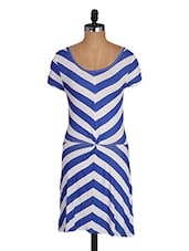 Striped Round Neck Viscose Dress - Amari West