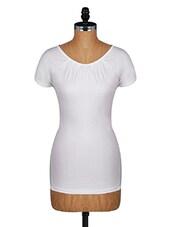 Short Sleeves Plain Solid Cotton Tee - Amari West