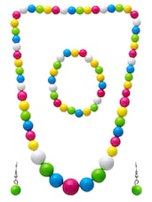 Multi Colour Beads Necklace Set - By
